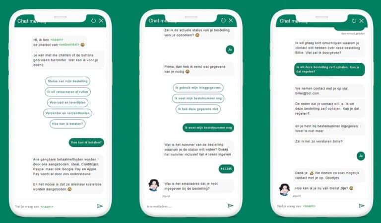 chatbot shopify voorbeelden