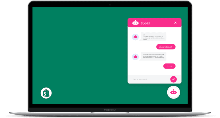 chatbot voor shopify webshop